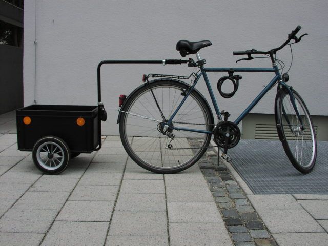 Spare bicycle with trailer