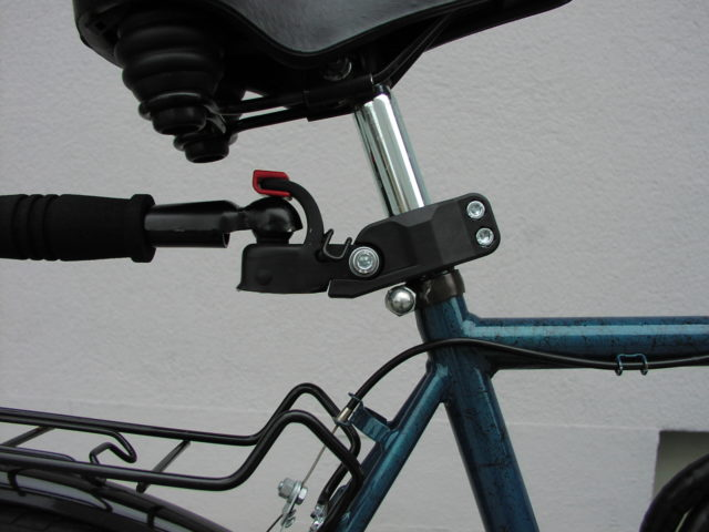 Spare bicycle with trailer hitch