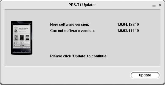 Sony PRS-T1 Updater 1.0.04