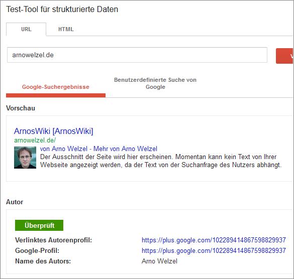 Google author info