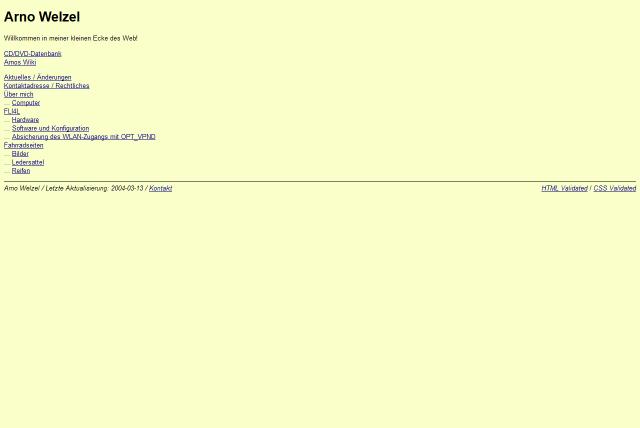 Website March 2004