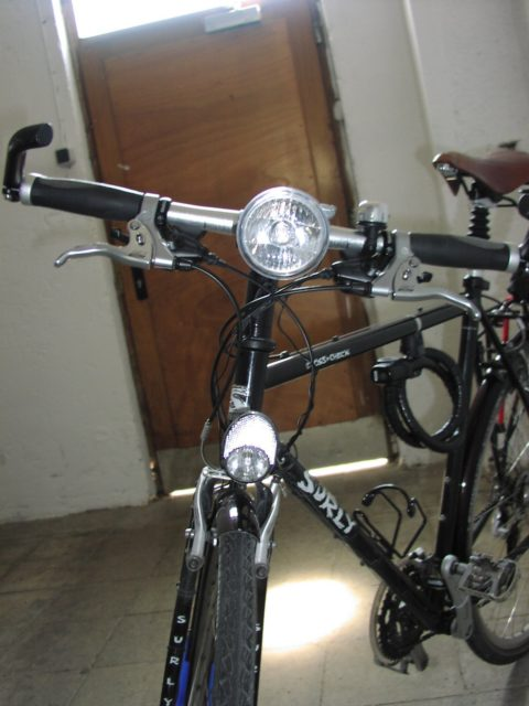 Surly Crosscheck double headlamp