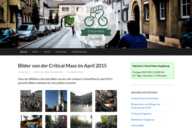 criticalmass-augsburg.de, May 2015