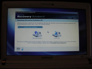Samsung NC10 recovery
