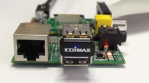 RasPi with Edimax WiFi adapter