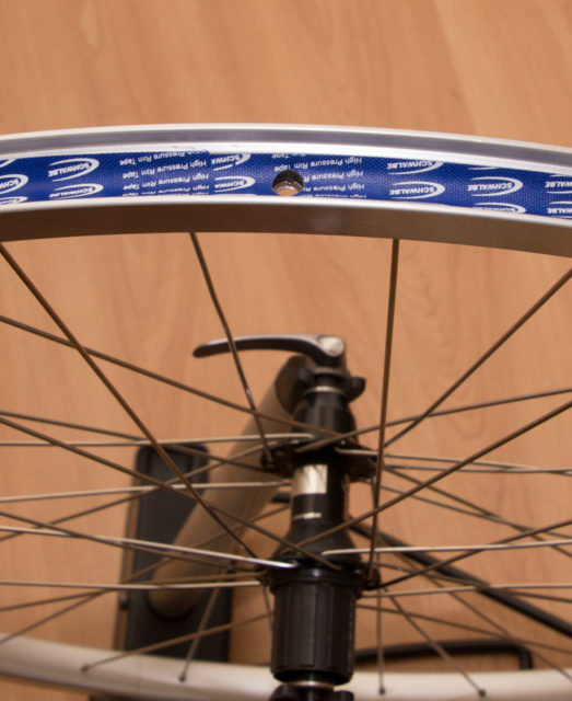 Rear wheel with DT Swiss 340 in detail