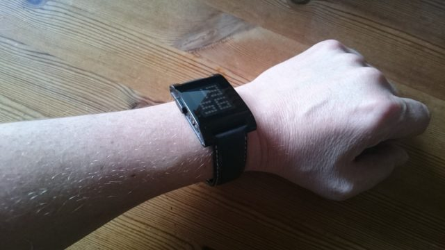 Pebble on wrist