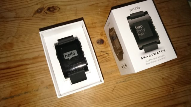 Pebble package opened