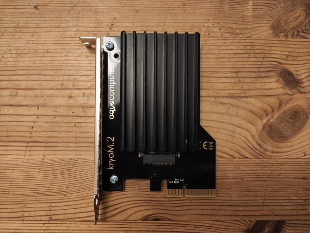 """NVME-SSD on a """"kryoM.2"""" adapter"""