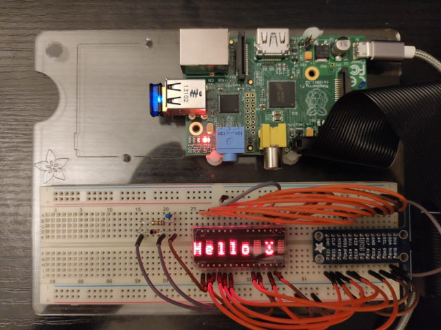 HDSP-2112, Test mit Raspberry Pi