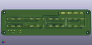 HDSP-211x for Raspberry Pi, back