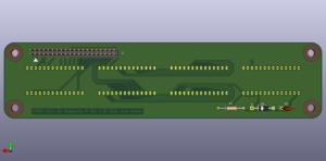 HDSP-211x for Raspberry Pi Rev 2, back