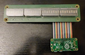 HDSP-211x for Raspberry Pi, complete setup of the first prototype