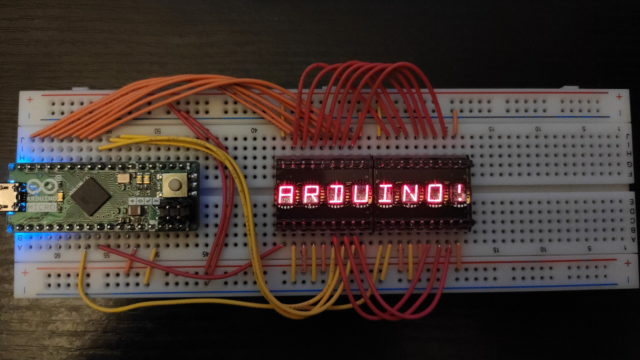 DL2416T connected to an Arduino micro