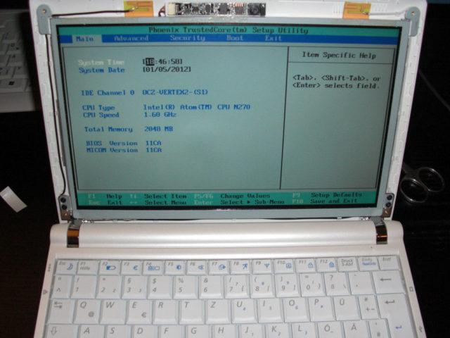 Samsung NC10, erster Test nach der Reparatur
