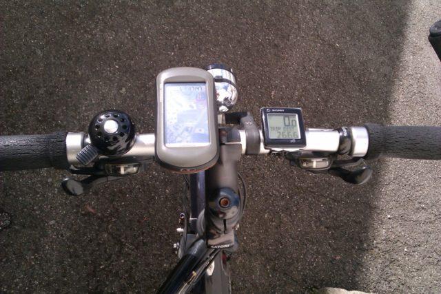 Garmin Oregon 450 am Fahrradlenker
