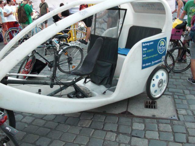 Rikscha von Bio-Taxi Augsburg