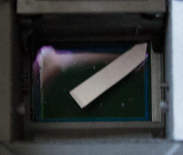 EOS 40D Sensorfilm, erster Versuch