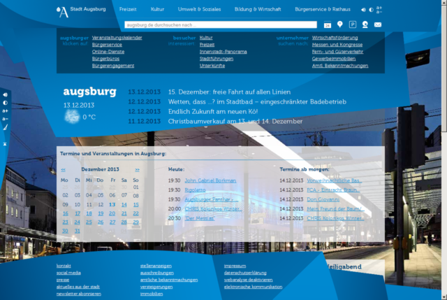 Website augsburg.de