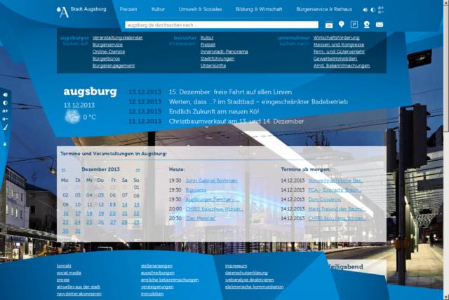Website augsburg.de