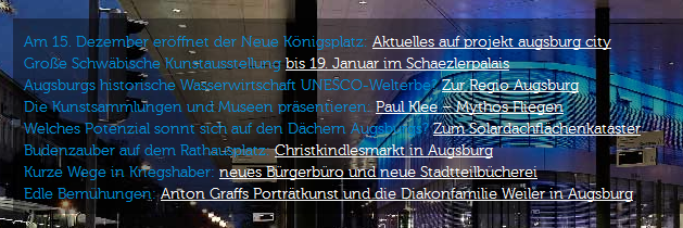 Website augsburg.de, Text