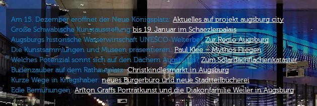 Website augsburg.de, Text