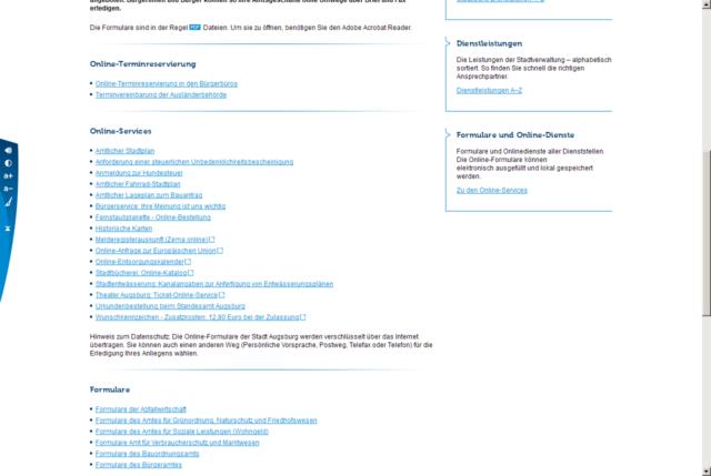 Website augsburg.de Fließtext
