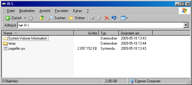 RAM-Disk im Windows-Explorer