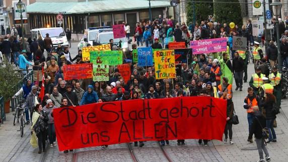 Freiraum-Demo Augsburg 2014