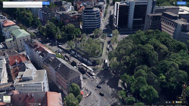 Google Maps 3D, alter Königsplatz