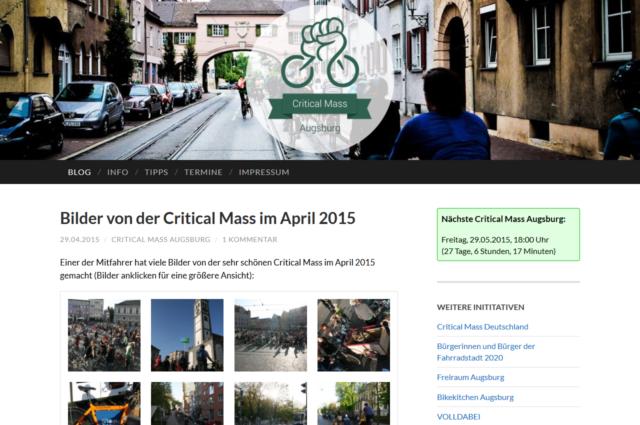 criticalmass-augsburg.de, Mai 2015