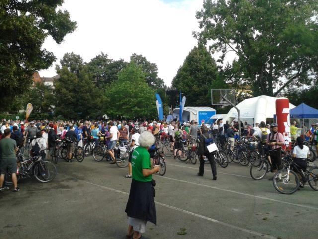 """""""Ring frei"""" in München 2014, Treffpunkt vor dem Start"""