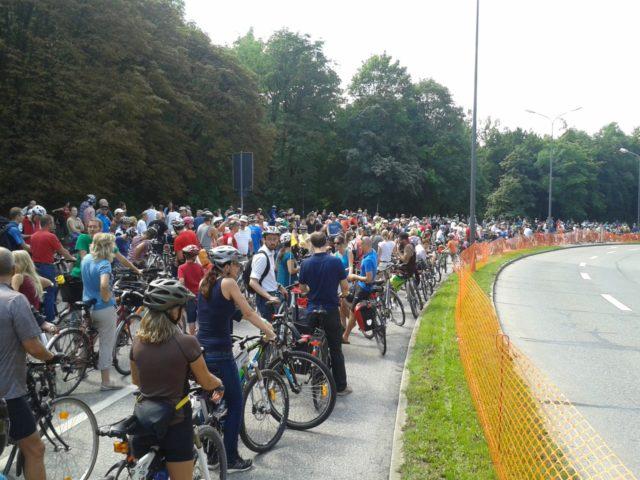 """""""Ring frei"""" in München 2014, Startaufstellung mit rund 5000 Teilnehmer/innen"""