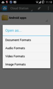 DS Cloud, öffnen einer Datei