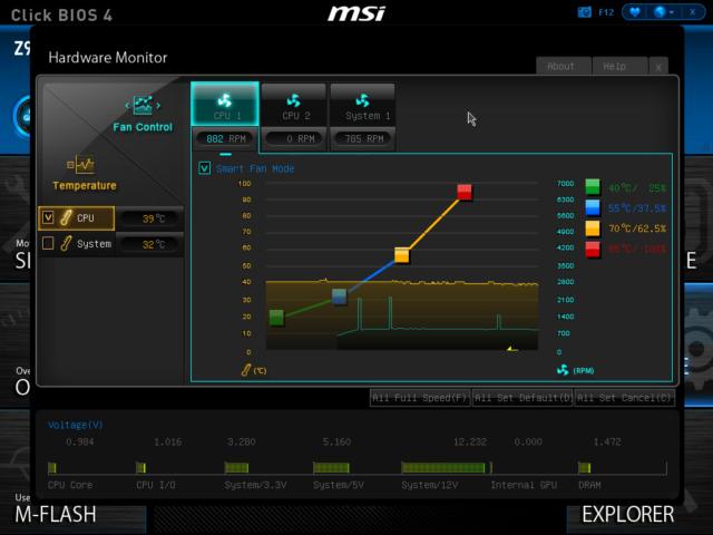 MSI Z97 PC Mate BIOS, Hardware Monitor