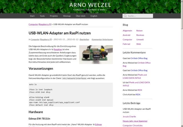 arnowelzel.de in Firefox