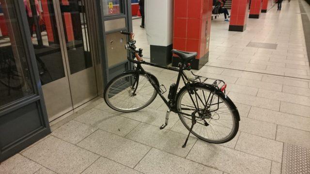 Mit dem Surly in der U-Bahn, Oktober 2016