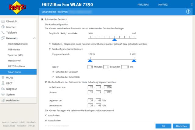 Fritz!OS 6.69-42088 Geräuschaktivierung für Fritz!DECT 200