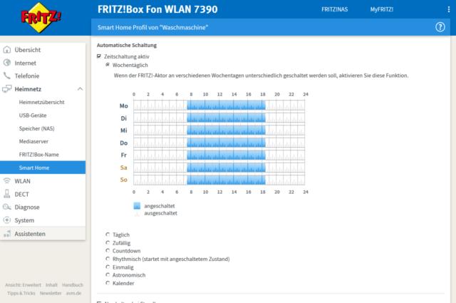 Fritz!DECT 200, automatische Schaltung