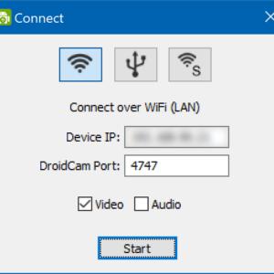 DroidCamX, Verbindung