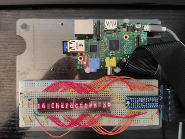 HDSP-2112, Test mit zwei Diaplays und Raspberry Pi