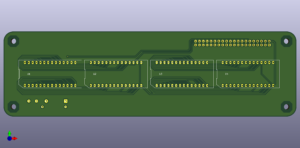 HDSP-211x für Raspberry Pi, Vorderseite