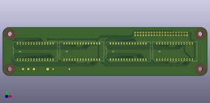HDSP-211x für Raspberry Pi Rev 2, Vorderseite