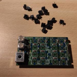 Roland SC-55, Tastenfeld rechts ohne Taster