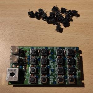 Roland SC-55, Tastenfeld rechts mit neuen Tastern